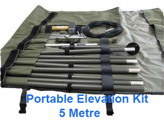 Portable mast military tactical